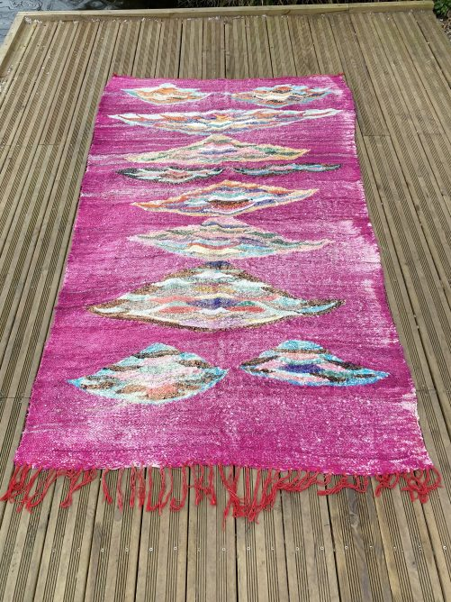 Grand tapis Kilim rouge, coloré 150x240 cm